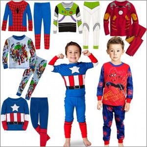 Kids-pajamas-set-chilren-boys-girls-clothing-long-suit-toddler-Pyjama-pajama-child-cartoon-Superman-Spider