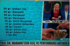 Ahmet Maranki güç ve performans arttıran kür
