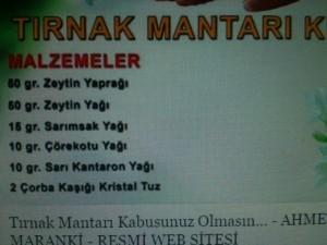 Ahmet Maranki Tırnak Mantarı kürü