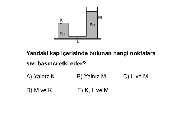 Basınç soruları 10. sınıf