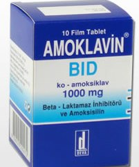 Amoklavin BID 1000 mg 10 Tablet