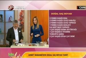 Doğal saçboyası tarifi- Ahmet Maranki